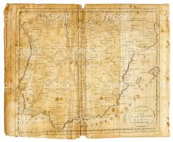 Spain And Portugal Map by Spain And Portugal Map 1802 Stock Vector Art 185100648 Istock