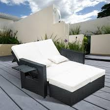 Rattan Two Seater Sofa Outsunny Outdoor 2 Piece Pe Rattan Wicker Patio Loveseat And