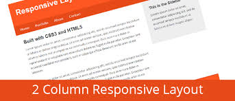css tutorial layout template create a 2 column responsive layout with html and css from scratch