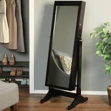 jewlery armoire mirror white floor mirror with jewelry storage stand up regarding floor