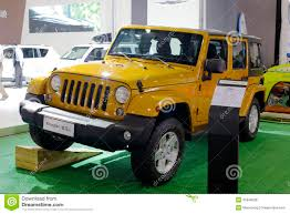 jeep rubicon yellow yellow jeep wrangler car editorial stock image image 45948039