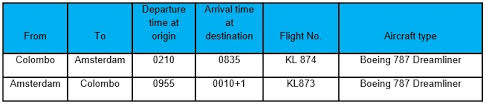 Klm Economy Comfort Klm Will Resume Flights To Colombo In Winter 2016 Mack Air