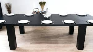 Black Extending Dining Table And Chairs Black Extendable Dining Table Modern Large Extending Black Ash