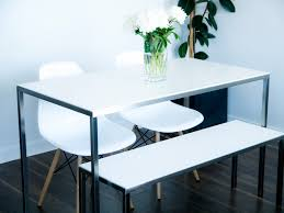 custom dining table and bench dean cloutier industrial design