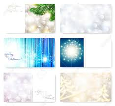 set of christmas and new year card templates with snowflakes