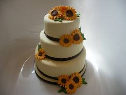 themed wedding cakes sunflower themed wedding cake or blue and yellow cake