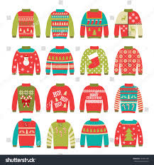 ugly sweaters set vector illustration can stock vector 543484108