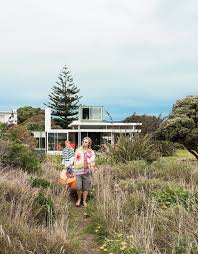 bach to the beach dwell modern house exterior in new zealand