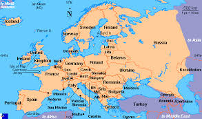 europ map clickable map of europe