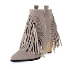 womens fringe boots size 9 high heels ankle picture more detailed picture about us size 5 9