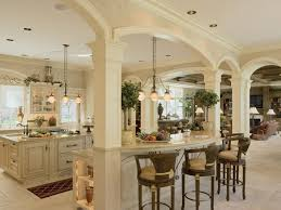 kitchen elegant french kitchen design with vintage stools and