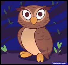 how to draw an owl for kids step by step animals for kids for