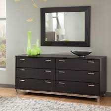 Small Dresser For Bedroom Modern Bedroom Dressers With Wall Mirror Above Made Of Parcticle