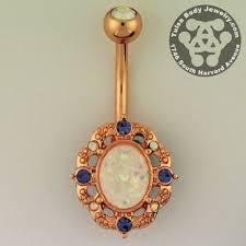 piercing buric aur florid opal belly ring cercel de buric cercei în buric și aur roșu