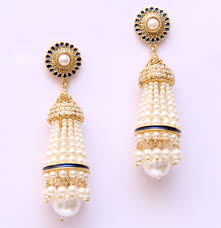 latkan earrings pearl latkan earrings vintage