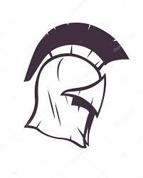 spartan helmet with scratches u2014 stock vector nexusby 78830524