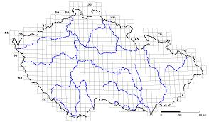 Map Grid Czech Republic Species Distribution Map Grid Blank U2022 Mapsof Net