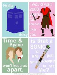 dr who valentines day cards geekly