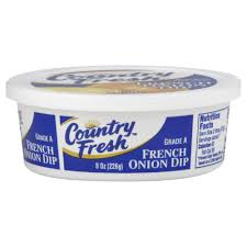 Cottage Cheese Onion Dip by Country Fresh Dip French Onion 8 Oz 226 G Rite Aid