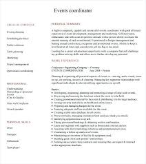 event planner resume event planner resume exle fishingstudio