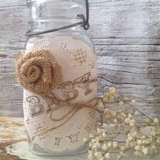 vintage baby shower decor for 5 jars shabby chic baby shower