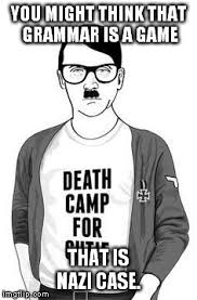 Grammer Nazi Meme - grammar nazi hipster hitler imgflip