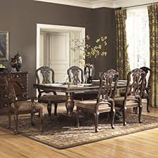 ashley dining table and chairs amazon com ashley north shore 7 piece wooden dining table set d553