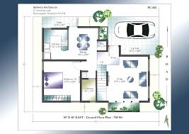 excellent 3 bedroom house plan in 30 40 site 3820 throughout plans