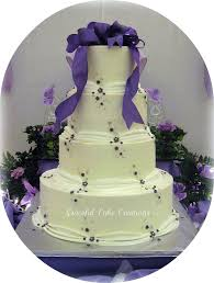 elegant purple and white wedding cake grace tari flickr