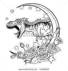 zodiac sign taurus decorative frame roses stock vector 511886266