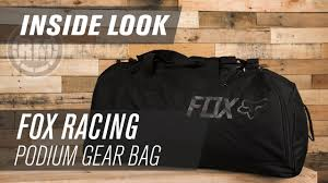 fox motocross gear bags fox racing podium motocross gear bag inside look youtube