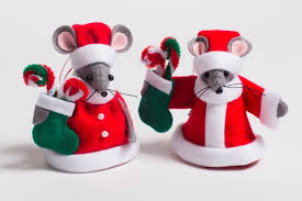 mr and mrs santa mouse tree decorations