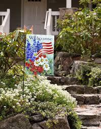 Mini Garden Flags Amazon Com Toland Patriotic Welcome Decorative America Red