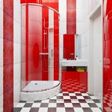 red and white bathroom ideas home bathroom design plan