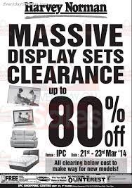 21 23 mar 2014 harvey norman massive display sets clearance sale