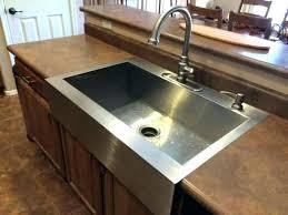 Drop In Farmhouse Kitchen Sinks Popular Decoration Overmount Kitchen Sink Also Drop