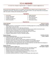 Best Bookkeeper Resume by Endearing Restaurant General Manager Resume Sample Hotel Template