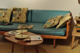 chic sofa and unique pillow patterns for retro living room idea