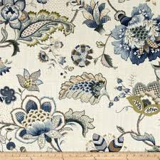 tempo jacobean floral blue from fabricdotcom screen printed on a