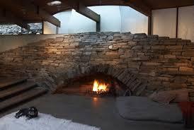 interior extraordinary living room decoration using aged brick
