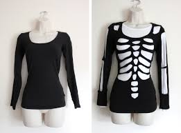 scary halloween t shirts diy scary skeleton halloween costume