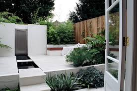Rear Garden Ideas Small Rear Garden In St Albans Hertfordshire With White