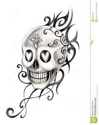 skull tattoo images free art skull tattoo stock illustration image 60901949