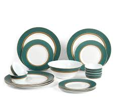 buy laopala sovrana empress 19 pieces dinner set green online