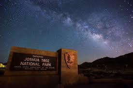 Dark Sky Map Stargazing Joshua Tree National Park U S National Park Service