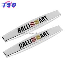mitsubishi ralliart stickers 3d auto decals side fender stickers badge emblem for mitsubishi