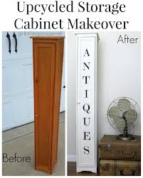 Cabinet Door Makeover Upcycled Storage Cabinet Makeover U2013 Trash To Treasure In