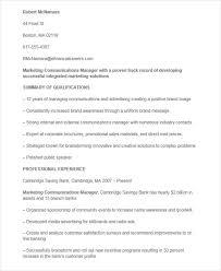 Marketing Communications Manager Resume 46 Professional Marketing Resume Free U0026 Premium Templates