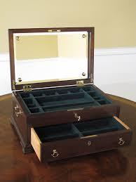 amazon com henkel harris model h 9 mahogany jewelry box chest
