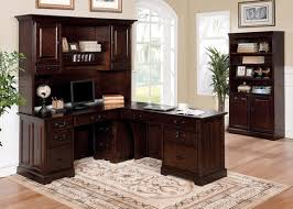 Antique Style Computer Desk Tami Dark Walnut Office Desk W Antique Style Handles